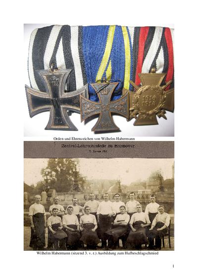 Kriegstagebuch 1914-1915 von Wilhelm Habermann