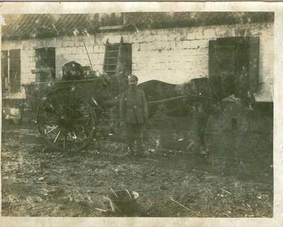 Johann Bogner met zijn paardenkoets.