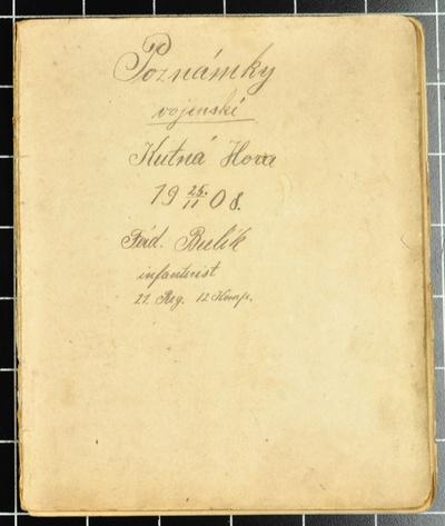 PH037 Deník a poezie Ferdinanda Bulíka