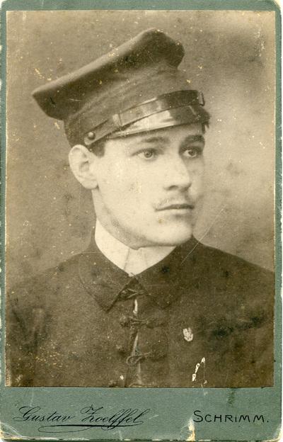 Edward Menzel -żołnierz armii pruskiej na froncie