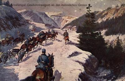 Carte poștală trimisă de pe frontul din Italia de Arsenie Dorobanțu