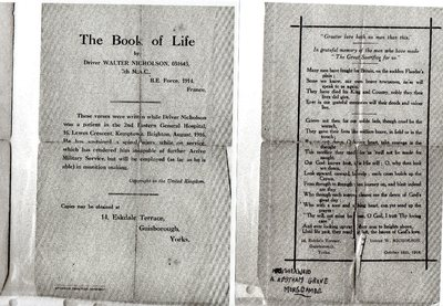 The Book of Life by Walter Nicholson from Stokesley, North Yorkshire