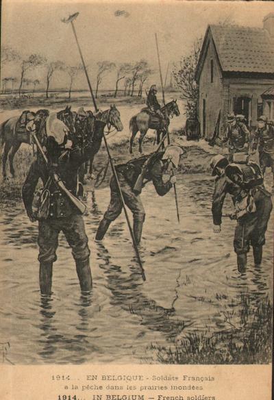 Καρτ-ποστάλ με λάφυρα πολέμου και στιγμιότυπα μαχών