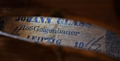 Meistergeige von Johann Glass, Leipzig 1916