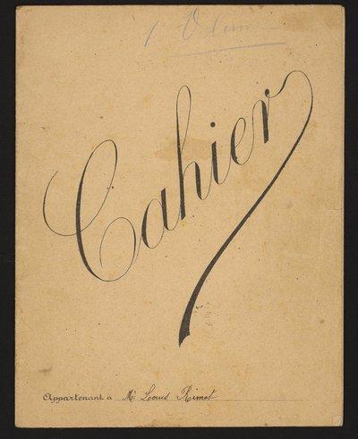 1 Num 1029 - Journal de guerre de Louis Rimet.