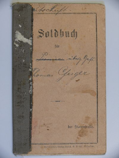 Soldbuch Thomas Geiger