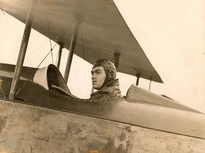 Daniel J Sheehan 2nd Lieut RFC in a Sopwith Pup 1917