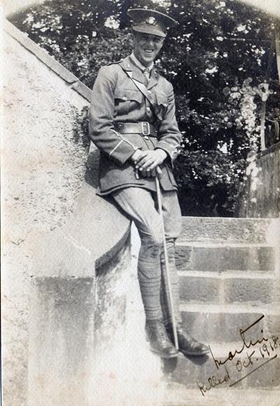 Martin J Sheehan, 2nd Lieutenant Royal Munster Fusiliers, 1917