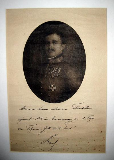 Dankesurkunde von Kaiser Karl I. für