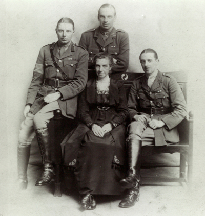 My grandfather Billy Bagshaw, with his mother and brothers, holders of four Military Crosses between them