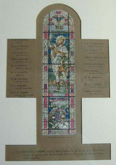 Northern Bank – War Memorials / Roll of Honour
