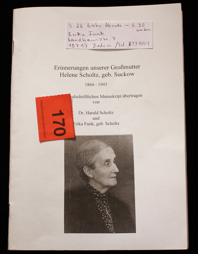 Erinnerungen Helene Scholtz