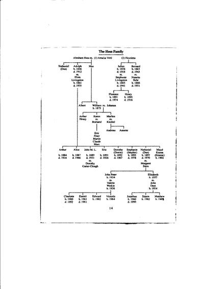 The Hess Family in World War 1