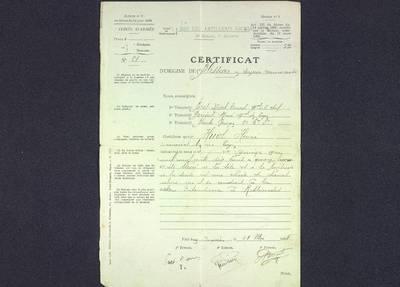 Certificat de blessures