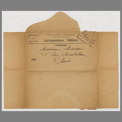 FRBNFM-025 Correspondance de guerre de Henri Moreau