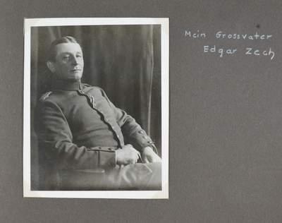 Poesiealbum mit Widmung von Major Edgar Zech