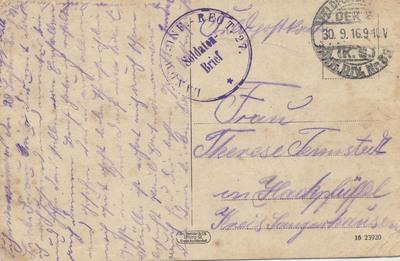 Feldpostkarten aus Cornay, Chevieres, Marcq, Olizy und Senuc
