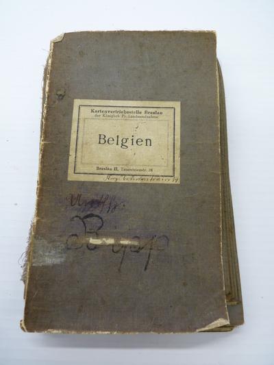 Kaart van België uitgegeven door de Generale Staf van het Duits Leger in 1914