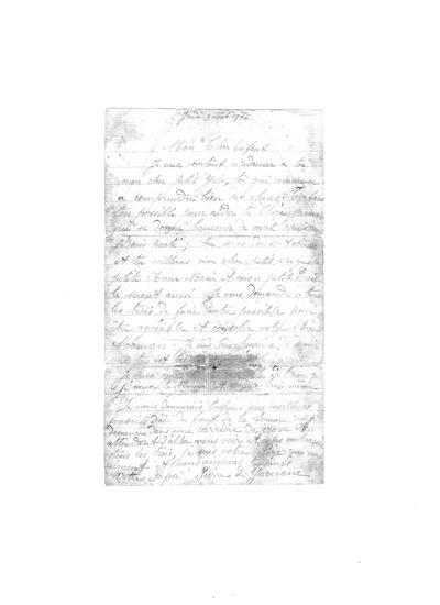 Lettre du front de la Somme d'un père à son fils