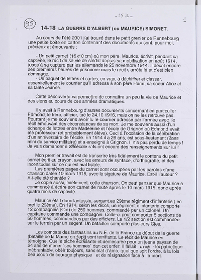 FRBNBU-044 Histoire d'Albert dit Maurice Simonet