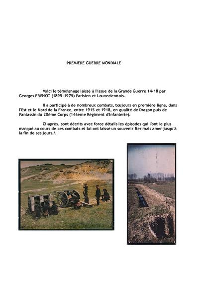 Tableaux de guerre 1914-1918 de Georges Frénot