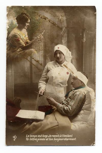 Carte postale adressée par Antoine Chaboy à sa femme Ernestine