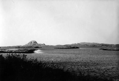Utsikt fra Brønnøysund til Torghatten - Blick von Brønnøysund auf Torghatten