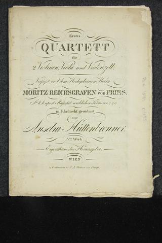 Erstes Quartett [Musikdruck]