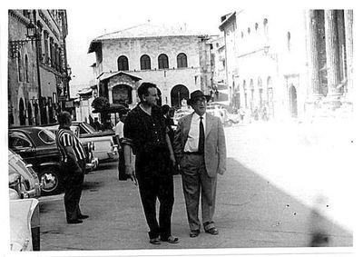 Aldo Capitini e Peter Cadogan ad Assisi