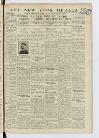 International herald tribune : published with the New York times and the Washington post