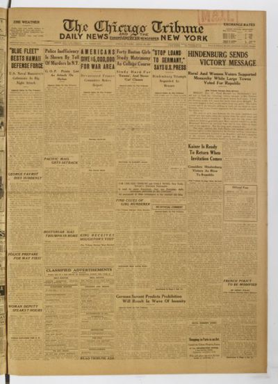 The Chicago tribune and the Daily news, New York