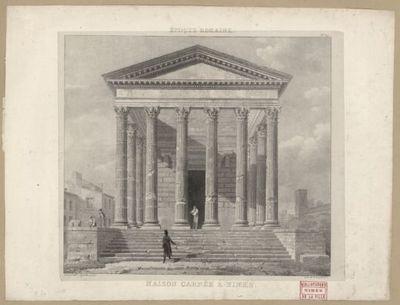 Maison Carrée à Nîmes / Jorand del.t ; Vauzelle scup.t