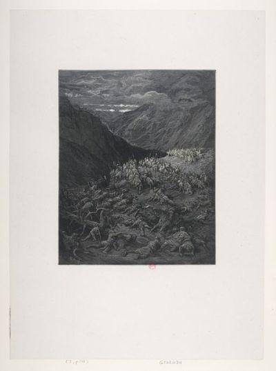 [L'armée de Conrad périt dans les montagnes] : [estampe] ([Fumé]) / G. Doré ; Bellenger