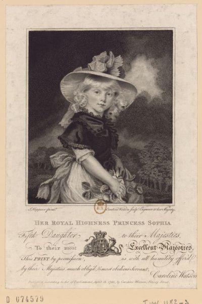 [Recueil. Portraits de Sophie de Brunswick, princesse d'Angleterre]