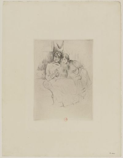 [Berthe Morisot dessinant avec sa fille] : [estampe] / [Berthe Morisot]