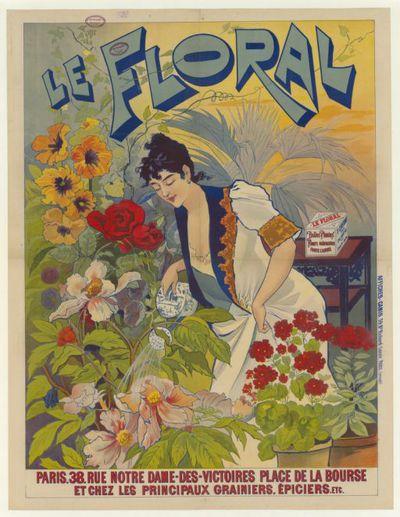 Le Floral , belles plantes .... chez les principaux grainiers, épiciers... : [affiche] / [ non identifié]