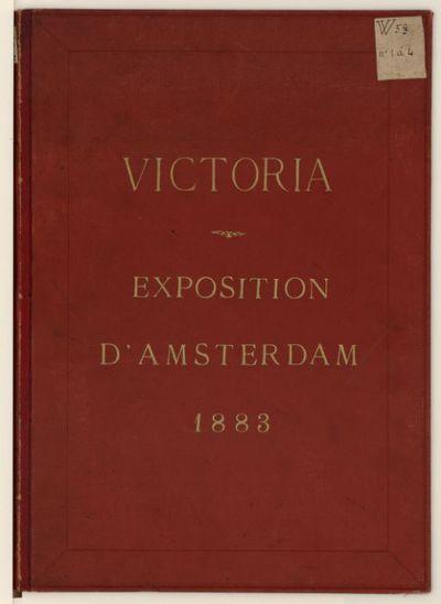 [4 phot. de salles de l'exposition coloniale d'Amsterdam de 1883, provenant des collections du prince Roland Bonaparte]