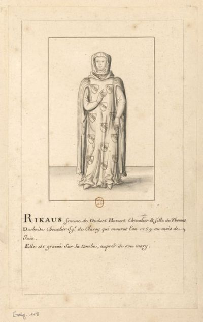 [Figure de femme portant un manteau à larges manches] : [dessin]