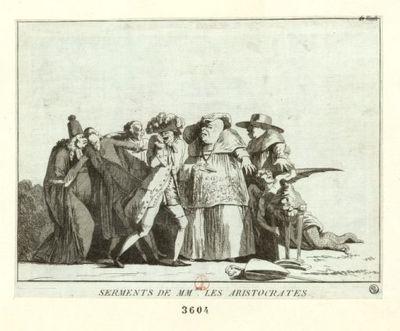 Serments de MM.rs les aristocrates : [estampe] / [non identifié]