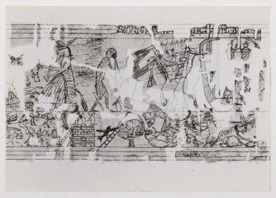 Animaux musiciens : détail du Papyrus de Turin / [artiste inconnu]