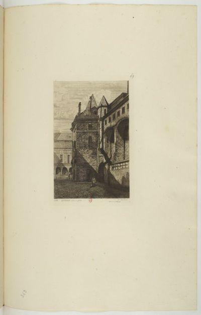 Cour Lamoignon, Palais de Justice, 1862 : [estampe] / APMartial [Potémont] ; Dessin de A. Potémont