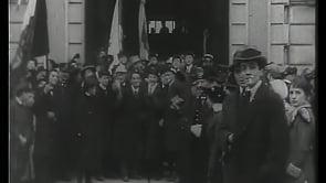 L'arrivo di S.E. Antonio Salandra a Torino. 31 gennaio 1916.