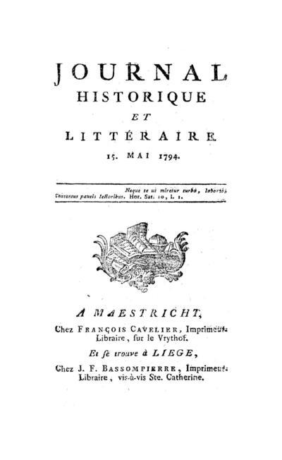 Journal historique et littéraire - 1794-05-15