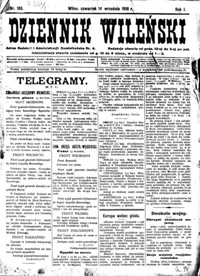 Dziennik Wileński - 1916-09-14