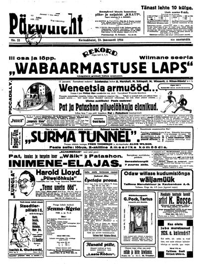 Päevaleht - 1926-01-13