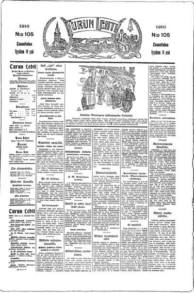 Turun Lehti, nr: 105 - 1910-09-10
