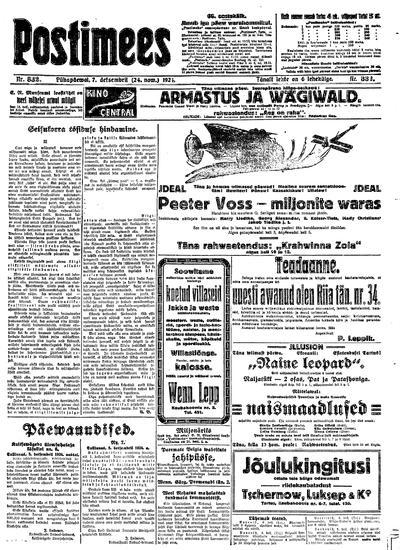 Postimees - 1924-12-07