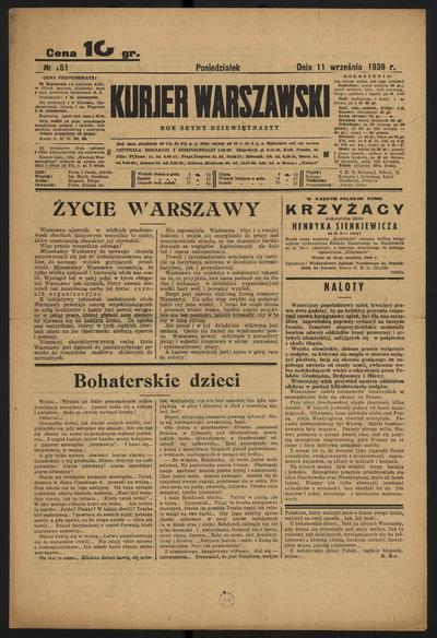 Kurjer Warszawski - 1939-09-11