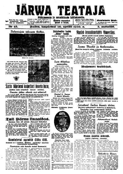 Järva Teataja - 1930-04-26