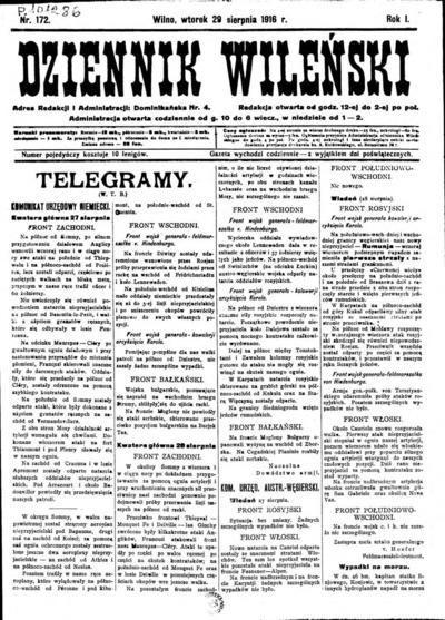 Dziennik Wileński - 1916-08-29